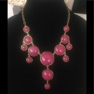 Chico's Pink and Gold Statement Necklace